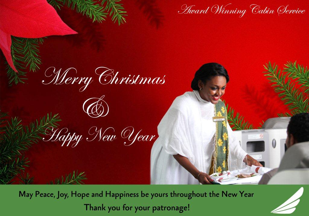 ethiopian airlines wishes happy holidays to its patrons