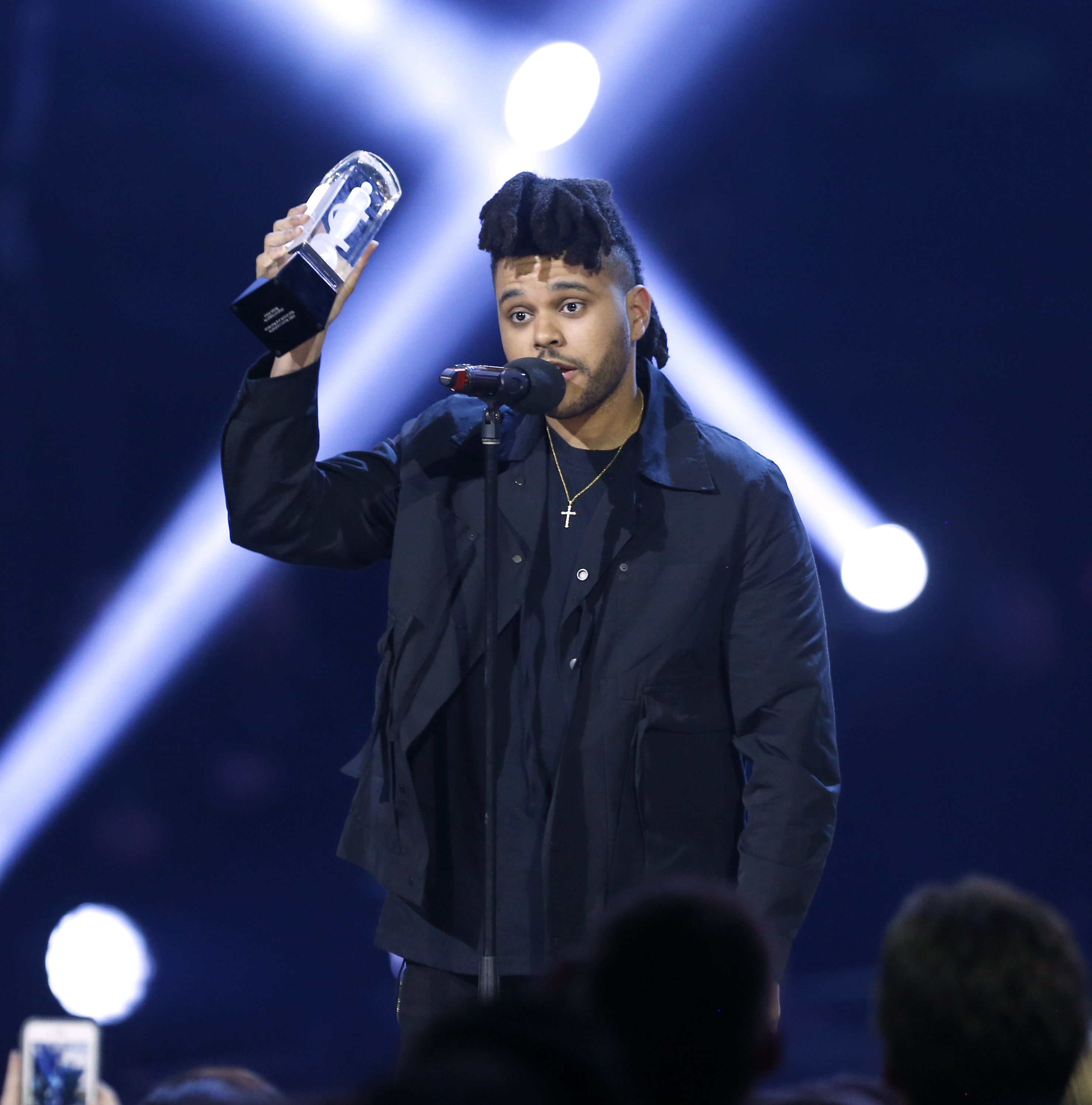 The 2016 JUNO Awards. Single of the Year winner The Weeknd. Scotiabank Saddledome, Calgary, AB. April 3, 2016.
