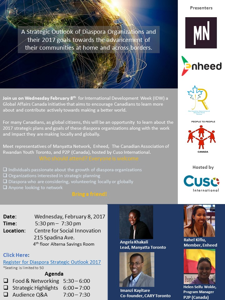 INVITATION IDW 2017 Diaspora Strategic Outlook Feb. 8